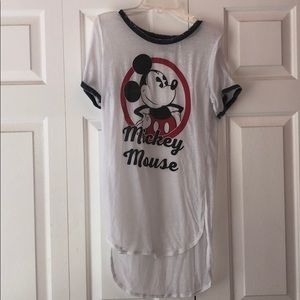 Mickey mouse shirt/ coverup